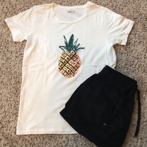 J. Crew Pineapple Tee Size Small